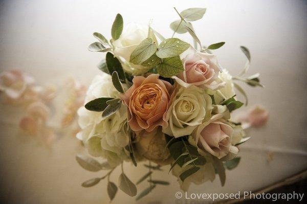 Top table small vase arrangement, the Landmark Hotel London