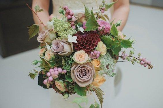 Vintage bridal bouquet at Andaz London