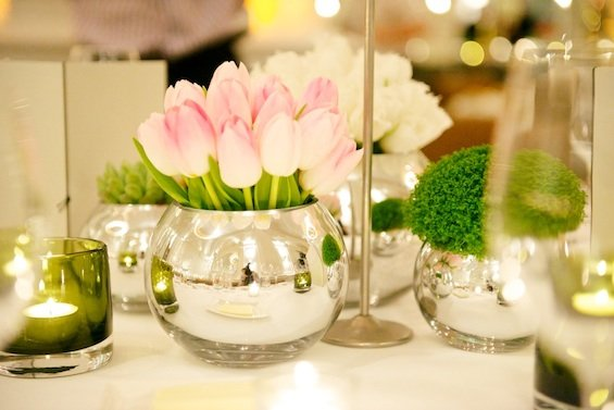 Table centres Spring wedding London