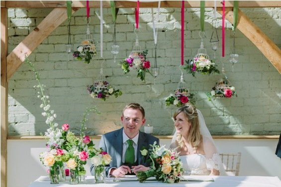 Summer wedding flowers at Gaynes Park