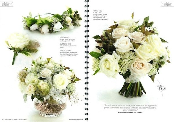 Wedding flowers mag nov2013 sweet pea flowers london wedding november issue wedding flowers magazine white bouquet white table centre white flower crown white buttonhole london wedding florist mightylinksfo