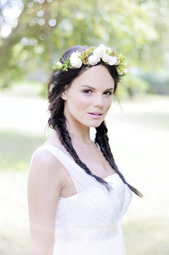 vintage floral headress, flower crown