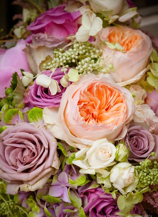 Vintage wedding summer flowers