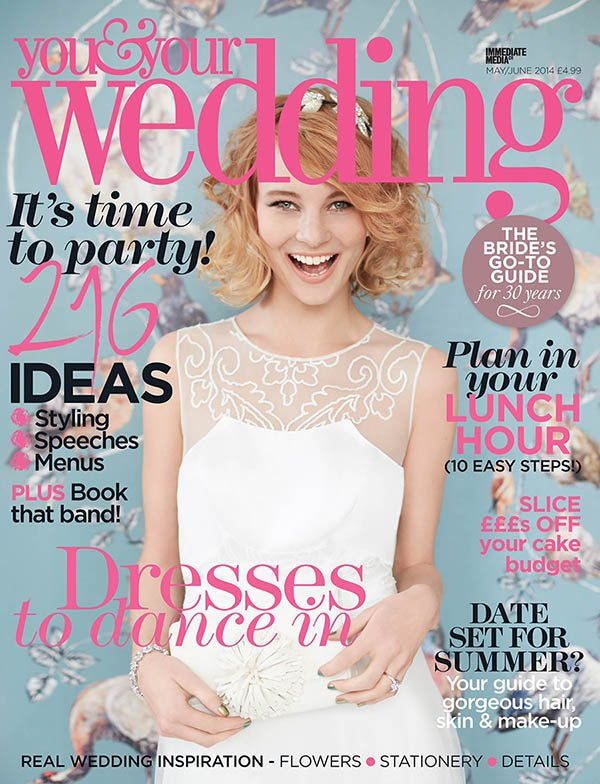 You&Your wedding Magazine flowers