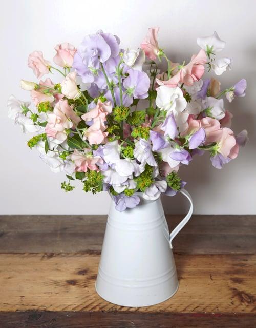 Jug of Sweet Peas • Sweet Pea Flowers • London Wedding Florist ...