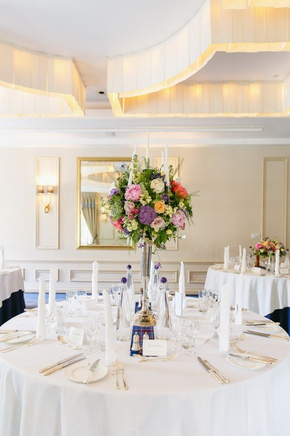 wedding tall table centre
