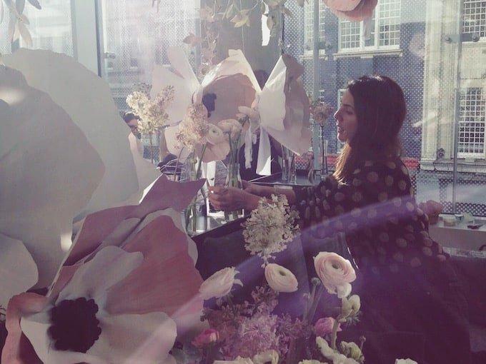 London florist at London fashion Week