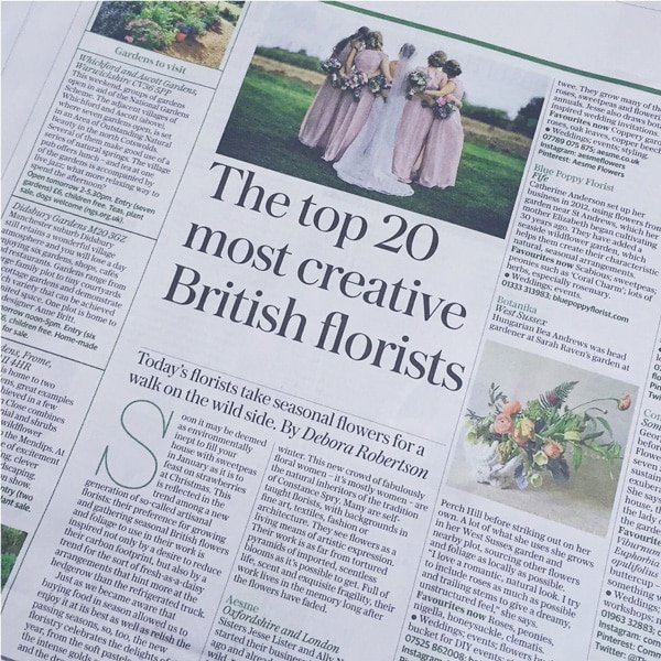 the telegraph- best florists in london