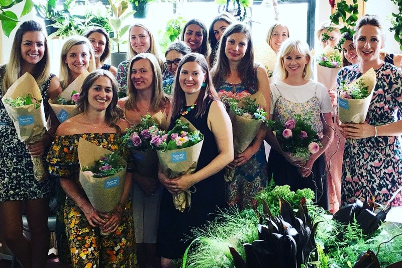 Flower-school-bridal-party